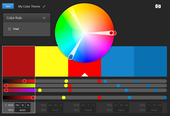 Free and online tools to define a color scheme