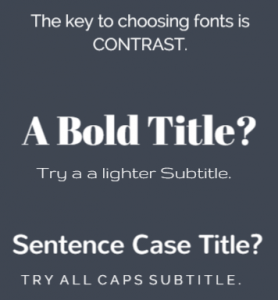 How to choose font contrast