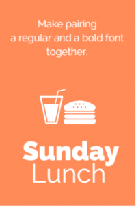 Make pairing a regular and a bold font together
