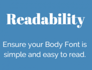 Ensure font readibility