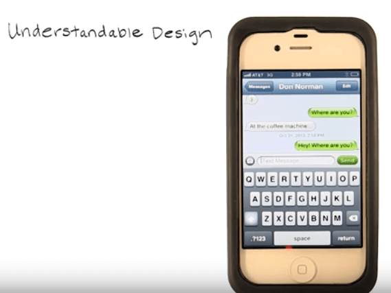understandable design with iphone device