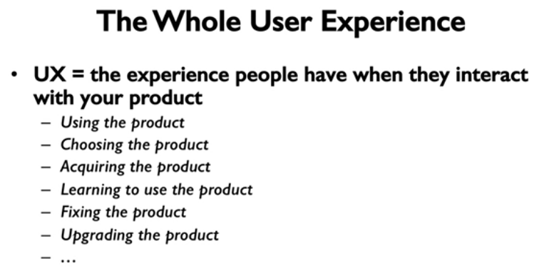 The Whole User Experience