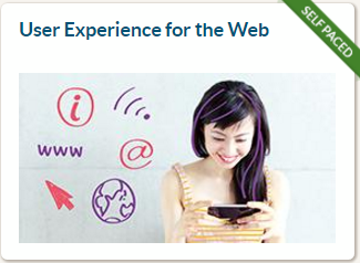Online course 'User Experience for the Web' – module 1