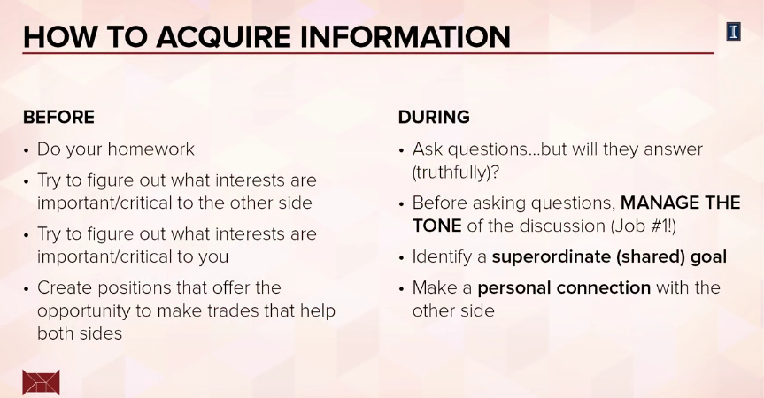 How to acquire information